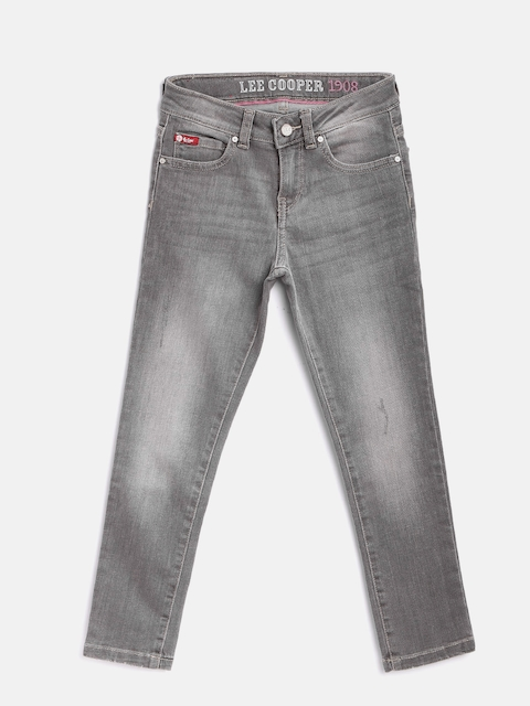 Lee Cooper Girls Grey Annie Slim Fit Stretchable Jeans  available at myntra for Rs.699