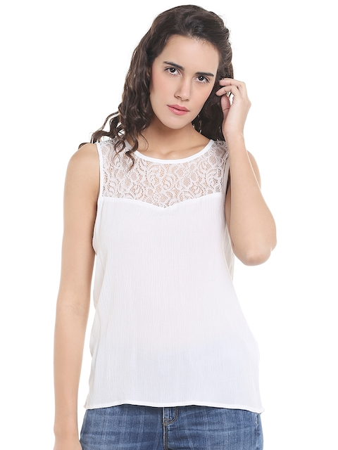 Vero Moda Women White Solid Top