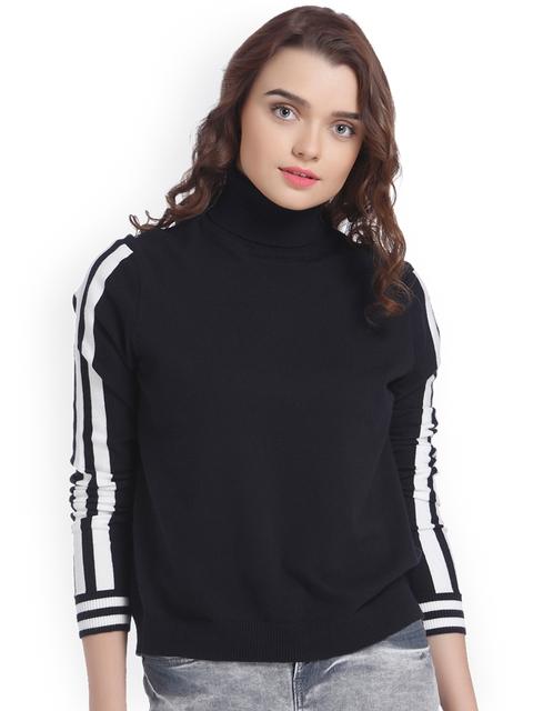 Vero Moda Women Black Solid Pullover