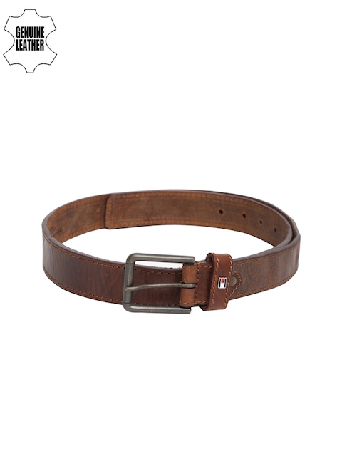 Tommy Hilfiger Men Brown Leather Belt