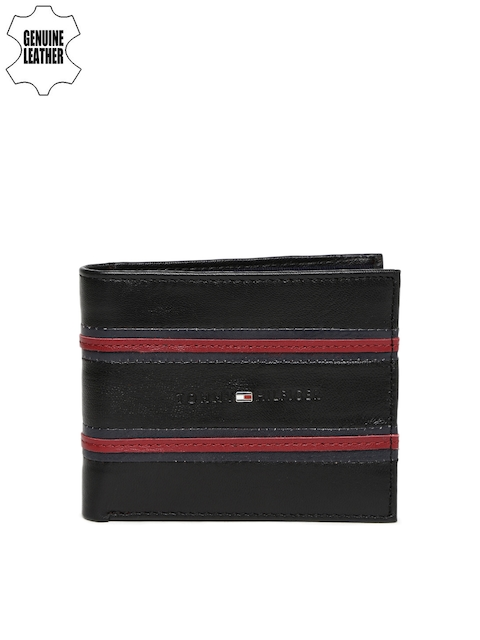 Tommy Hilfiger Men Brown Striped Two Fold Wallet