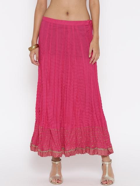 Biba Pink Flared Maxi Skirt