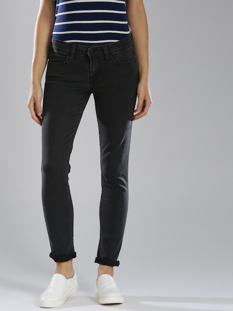 Levis Women Black Regular Fit Mid-Rise Clean Look Stretchable Jeans