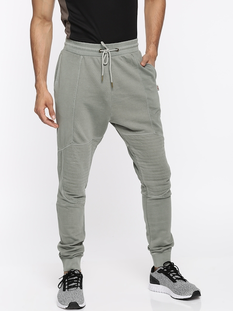 Jack & Jones Men Grey Solid Joggers