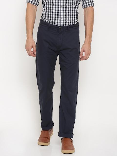 Timberland Men Navy Slim Fit Solid Regular Trousers