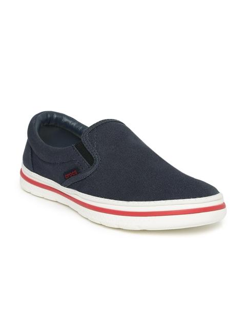 Crocs Men Navy Blue Norlin Slip-On Sneakers