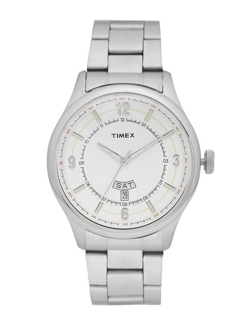 Timex Men Off-White Analogue Watch TWEG14504