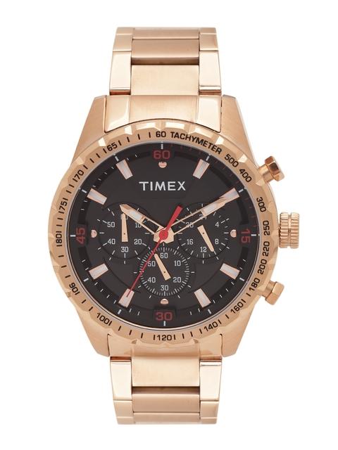 Timex Men Black Chronograph Analogue Watch TWEG15606