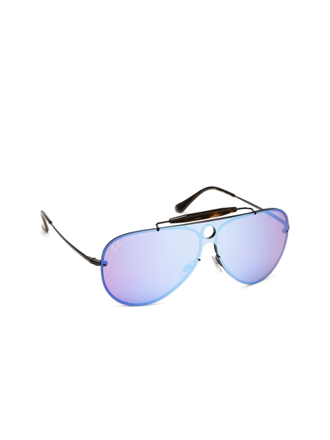 Ray-Ban Unisex Mirrored Aviator Sunglasses 0RB3581N153/7V32