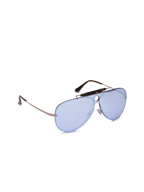 Ray-Ban Unisex Mirrored Aviator Sunglasses 0RB3581N90351U32