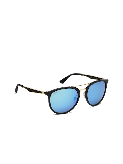Ray-Ban Men Browline Mirrored Sunglasses 0RB4285601S5555