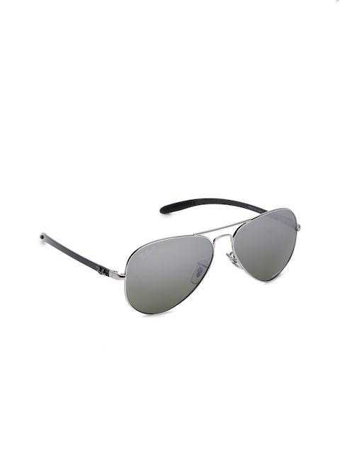 Ray-Ban Men Mirrored Aviator Sunglasses 0RB8317CH003/5J58
