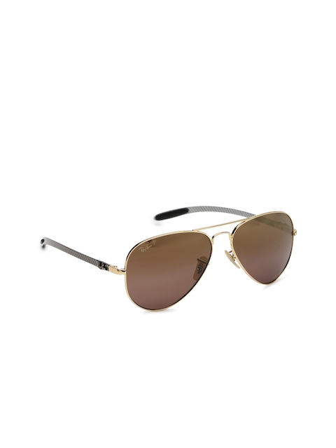 Ray-Ban Men Mirrored Aviator Sunglasses 0RB8317CH001