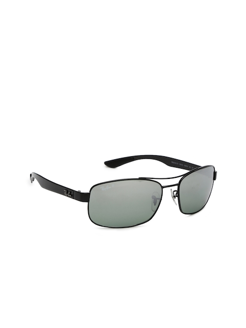 Ray-Ban Men Rectangle Mirrored Sunglasses 0RB8318CH002