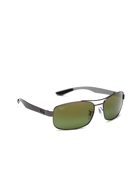 Ray-Ban Men Rectangle Sunglasses 0RB8318CH004/6O62
