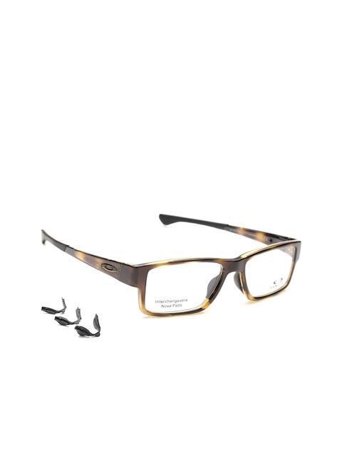 OAKLEY Men Brown Printed Rectangular Frames 0OX812181210455
