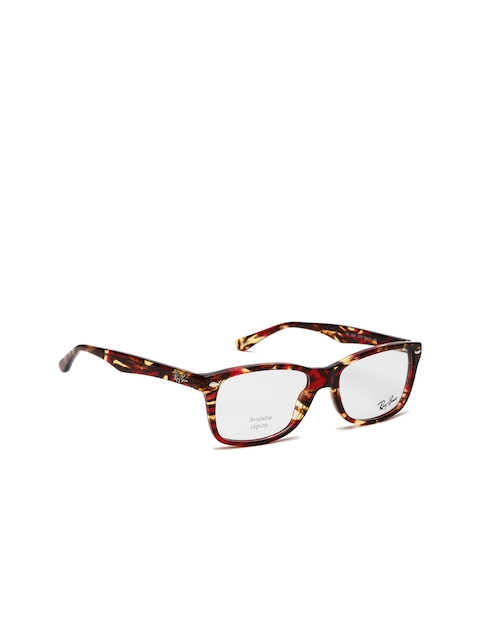 Ray-Ban Women Red & Beige Rectangle Frames 0RX5228571053