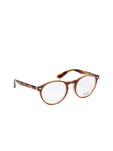 Ray-Ban Men Brown Solid Full Rim Round Frames 0RX5283567751-5677