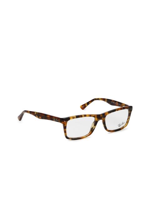 Ray-Ban Men Brown Patterned Rectangular Frames 0RX5287571252