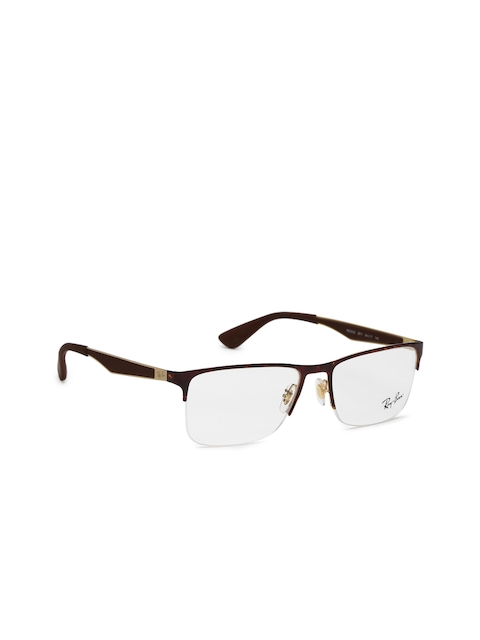 Ray-Ban Men Brown Rectangular Frames 0RX6335291754