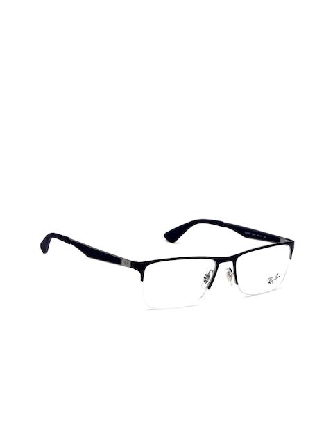 Ray-Ban Men Navy Rectangular Frames 0RX6335294754