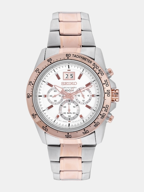 SEIKO Men Silver-Toned Chronograph Watch SPC234P1