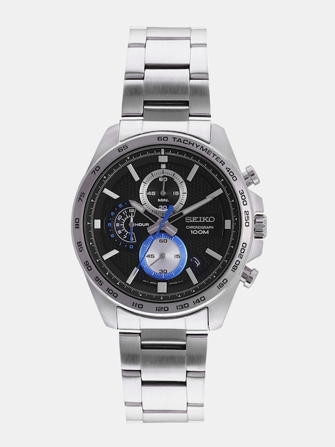 SEIKO Men Black Analogue Watch SSB257P1