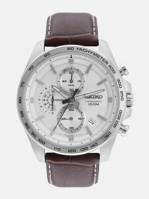SEIKO Men White Chronograph Watch SSB263P1