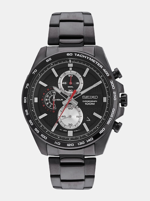 SEIKO Men Black Chronograph Watch SSB283P1