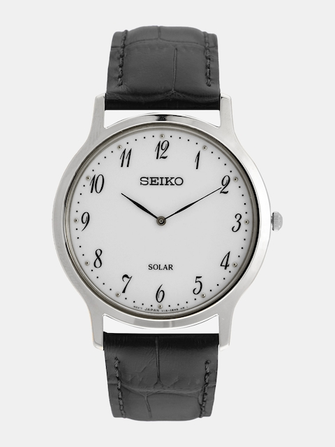 SEIKO Men White Solar Analogue Watch SUP863P1