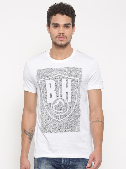 Being Human Men White Printed Round Neck T-shirt  available at myntra for Rs.489