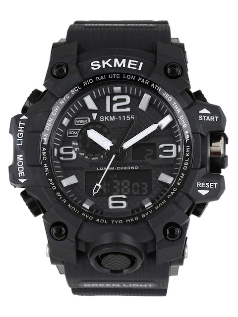 Skmei Men Black Analogue & Digital Watch 1155BLK