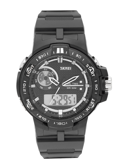 Skmei Men Black Analogue & Digital Watch 1070BK