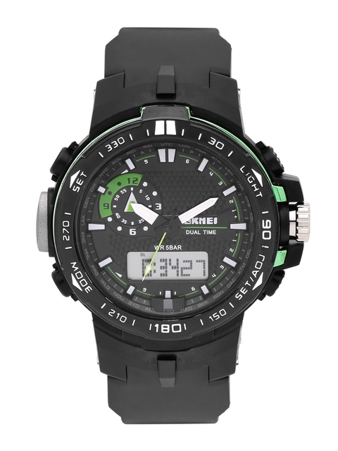 Skmei Men Black Analogue & Digital Watch 1081-GR