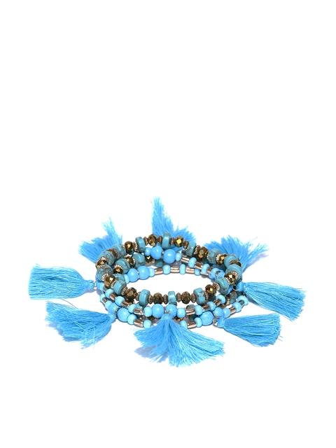 Blueberry Set of 4 Blue Elasticated Bracelets