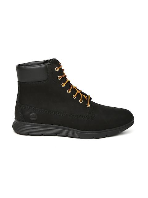 Timberland Men Black KILLINGTON Leather High-Top Flat Boots