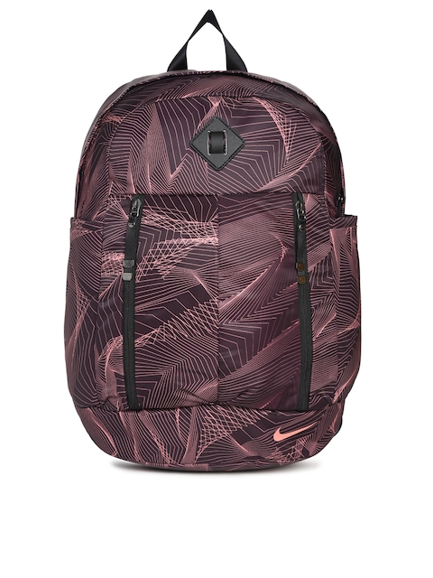 Nike Women Burgundy Printed Backpack  available at myntra for Rs.1108