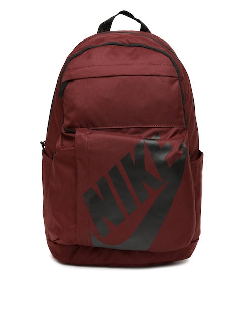 Nike Unisex Maroon Printed Elmntl Backpack  available at myntra for Rs.1197