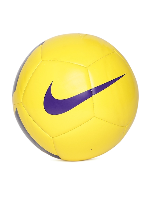 Nike Yellow & Purple Pitch Team Printed Football
