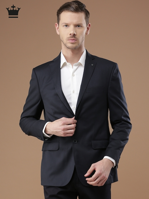 Louis Philippe Navy Ultra Fit Single-Breasted Formal Blazer