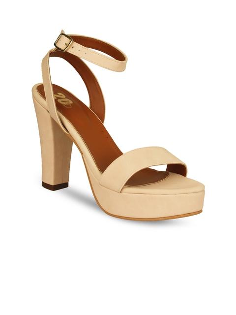 20Dresses Women Nude-Coloured Solid Heels