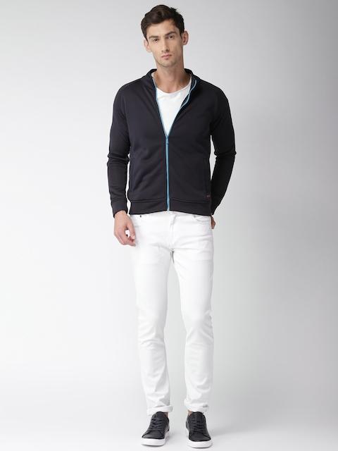 Mast & Harbour Men Black Solid Tailored Jacket