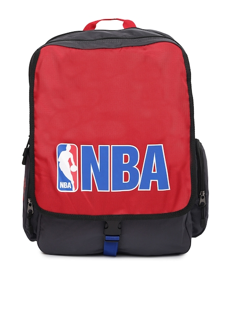 AMERICAN TOURISTER Unisex Red & Grey Dribble NBA Printed Backpack