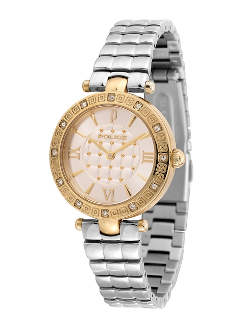 Police Women Silver-Toned Analogue Watch PL14623LSG04M
