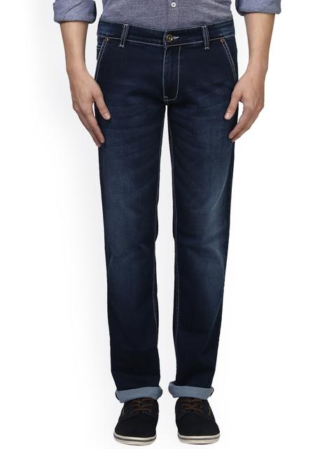 Park Avenue Men Blue Slim Fit Mid-Rise Clean Look Jeans