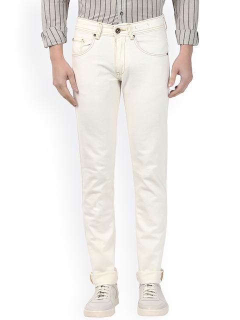 Park Avenue Men White Slim Fit Mid-Rise Clean Look Jeans
