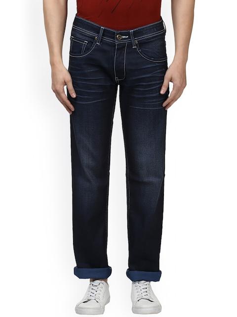 Park Avenue Men Navy Blue Slim Fit Mid-Rise Clean Look Jeans