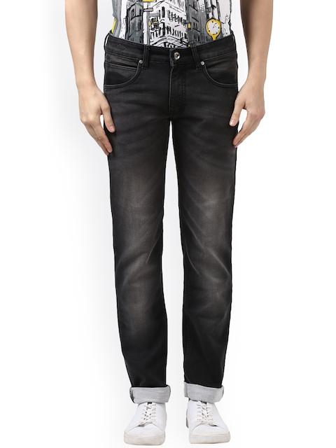 Park Avenue Men Black Slim Fit Mid-Rise Clean Look Jeans
