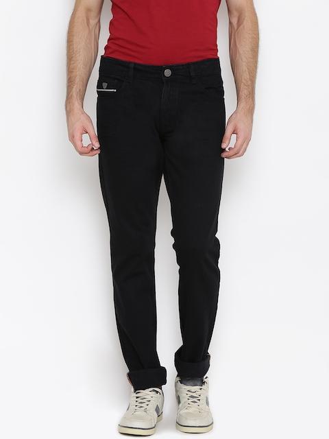 John Players Men Black Slim Fit Mid-Rise Clean Look Jeans