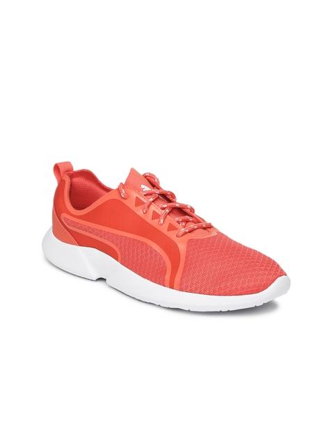 Puma Women Coral Orange Vega Evo Slip-On Sneakers